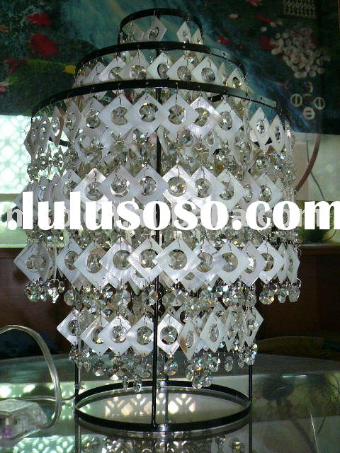 Popular Furniture arts and crafts ,Natural shell table lamp
