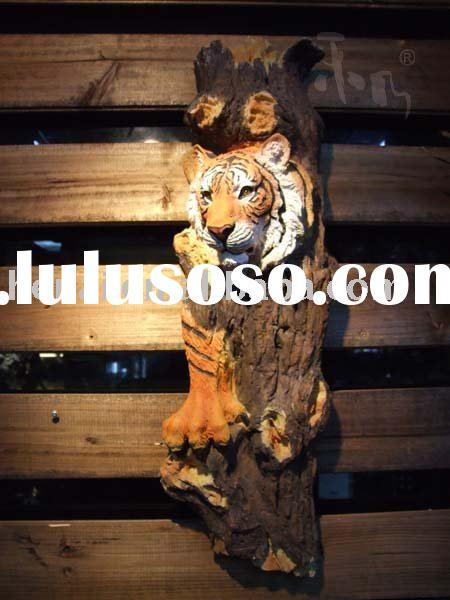 Resin crafts/ Promotion crafts of tiger wall hanging HN-E103B
