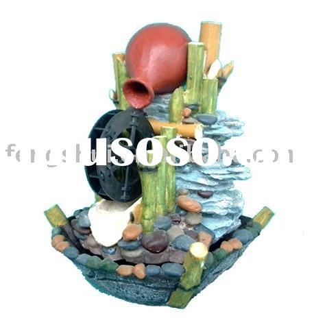 Resin made Waterwheel and Rock Indoor Tabletop Fountain