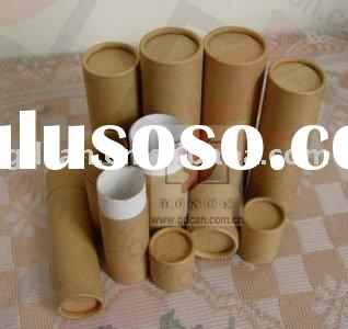 Chocolate paper can paper tube paper cylinder kraft for Kraft paper craft tubes