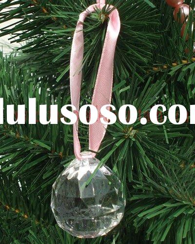 diamond round beaded ornament, beaded ornament on wedding tree, christmas crystal bead ornament
