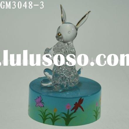 easter decoration with LED light/glass art and craft