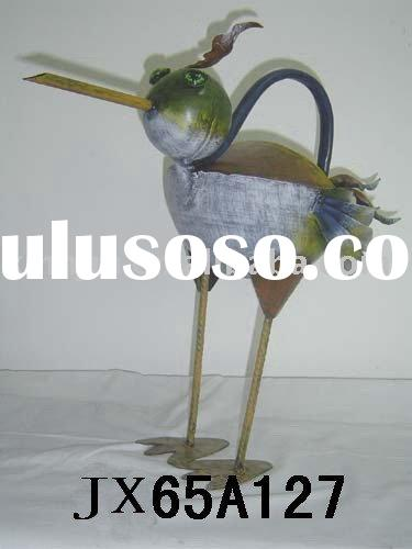 metal animal bird watering can for garden tool