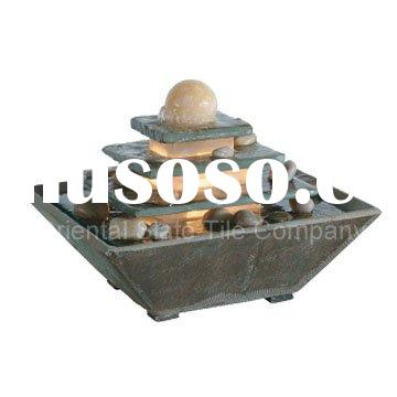 natural slate table water fountain
