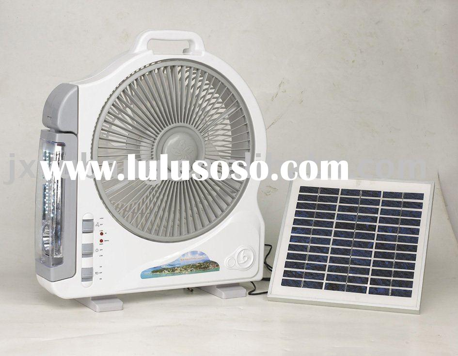 solar lamp fan emergency light DC 12v fan light 10w solar panel system