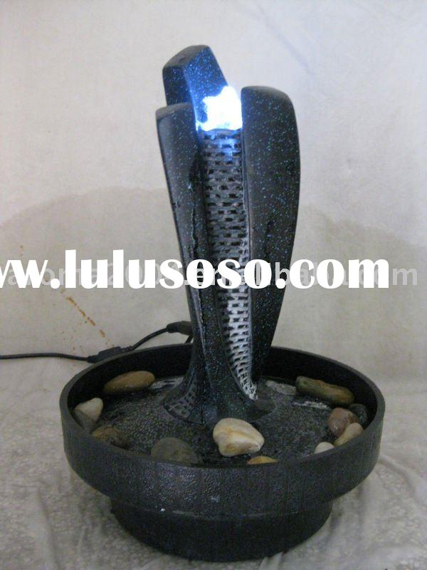 table polyresin stone water fountain with white LED light