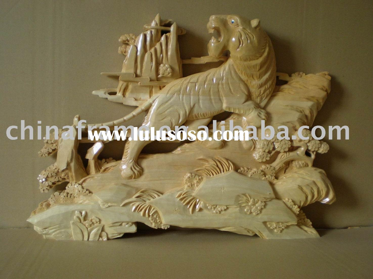 wooden carved craft