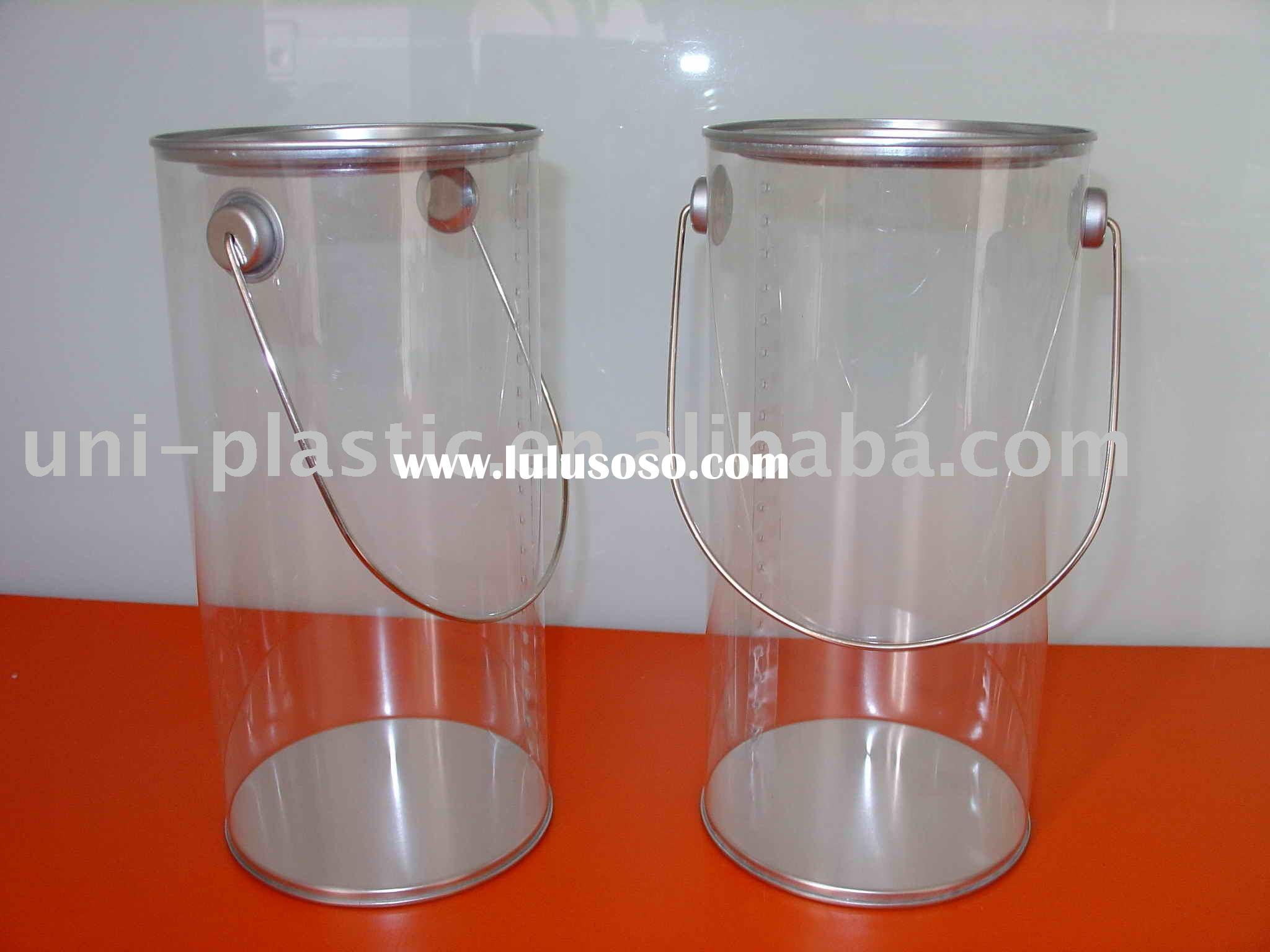 Clear Paint Can,Clear PVC Buckets,Clear Pails