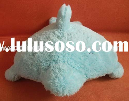 LOVELY POPULAR STUFFED PLUSH ANIMAL PILLOW CUSHION TOY DOLPHIN