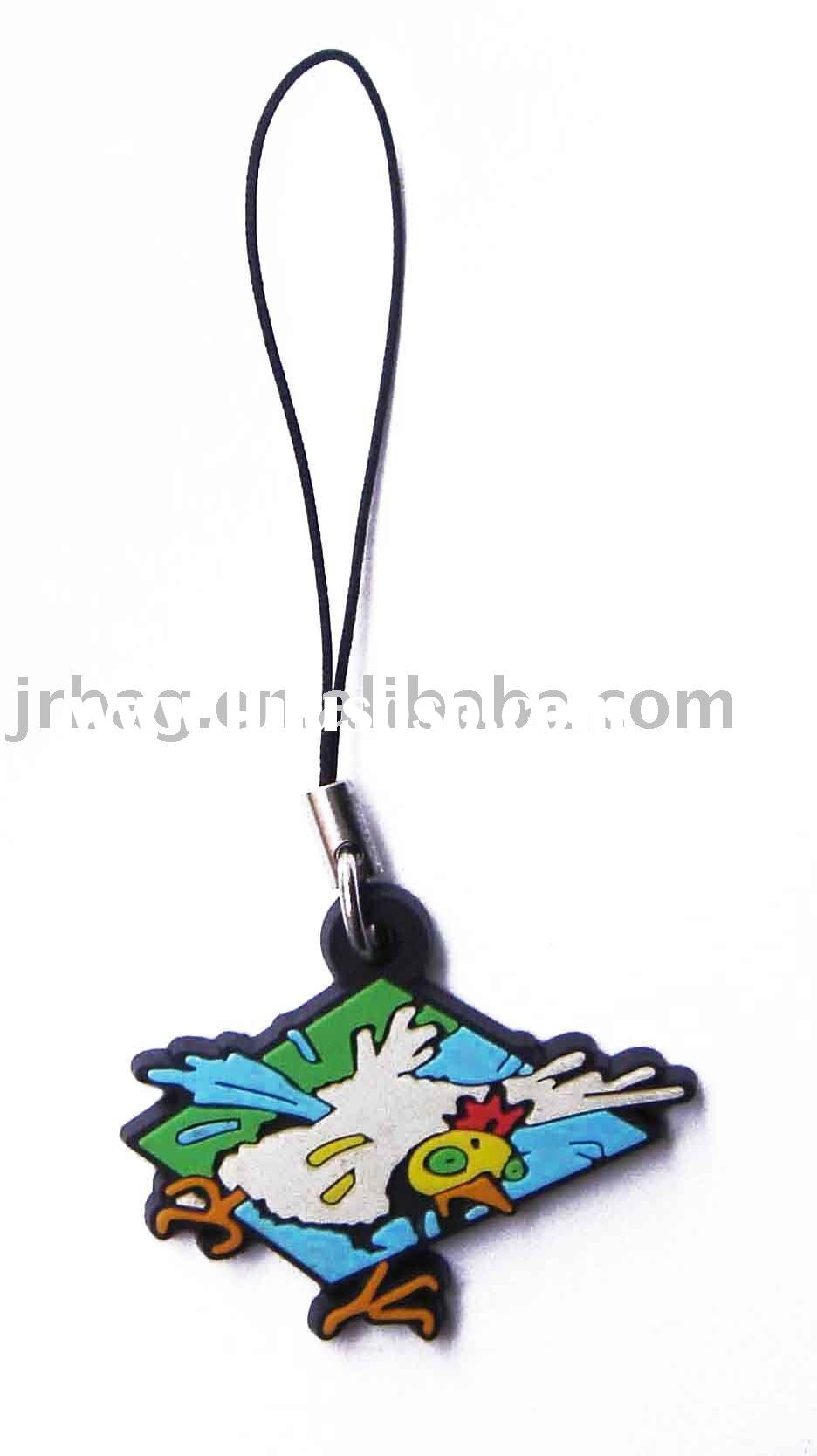 Logo print mobile phone strap string with pendent
