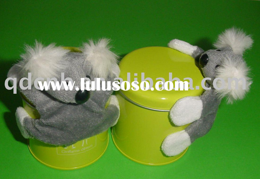 Magnet Koala Magnet Plush Koala with Tin Box Mini Plush Koala Keychain Stuffed Animal Mobile Phone S