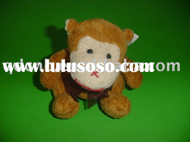 Mini Plush Monkey Ape Chimpanzee Chimp Stuffed Monkey Miniature Plush Monkey Keychain Toy