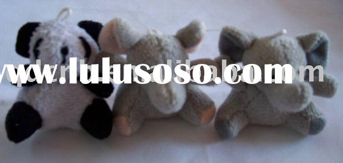 Mini Plush Panda Elephant Animals Miniature Plush Animals Keychain Toy