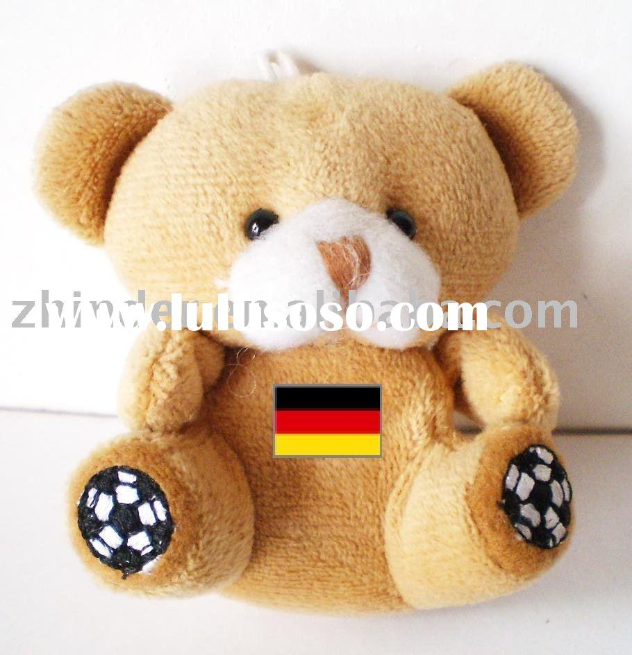Plush Germany football bear world cup 2010 ,stuffed animals charm product for 2010 world cup,soft ch