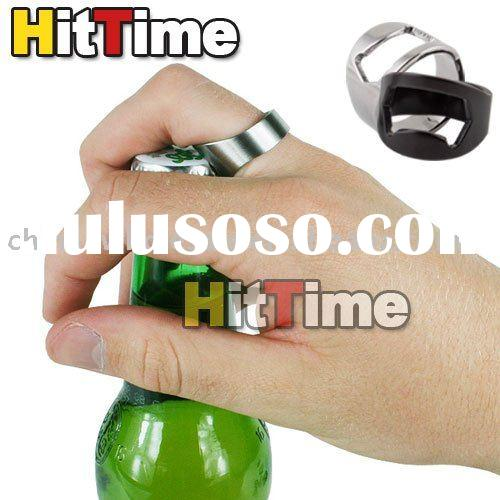 Stainless Steel Finger Ring Bottle Opener Beer Bar Tool Free Air Mail ONLY Wholesale
