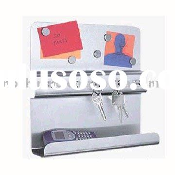 Stainless Steel Key Rack with Magnet Board
