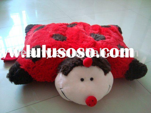 Stuffed&plush animal ladybug pillow pet toy