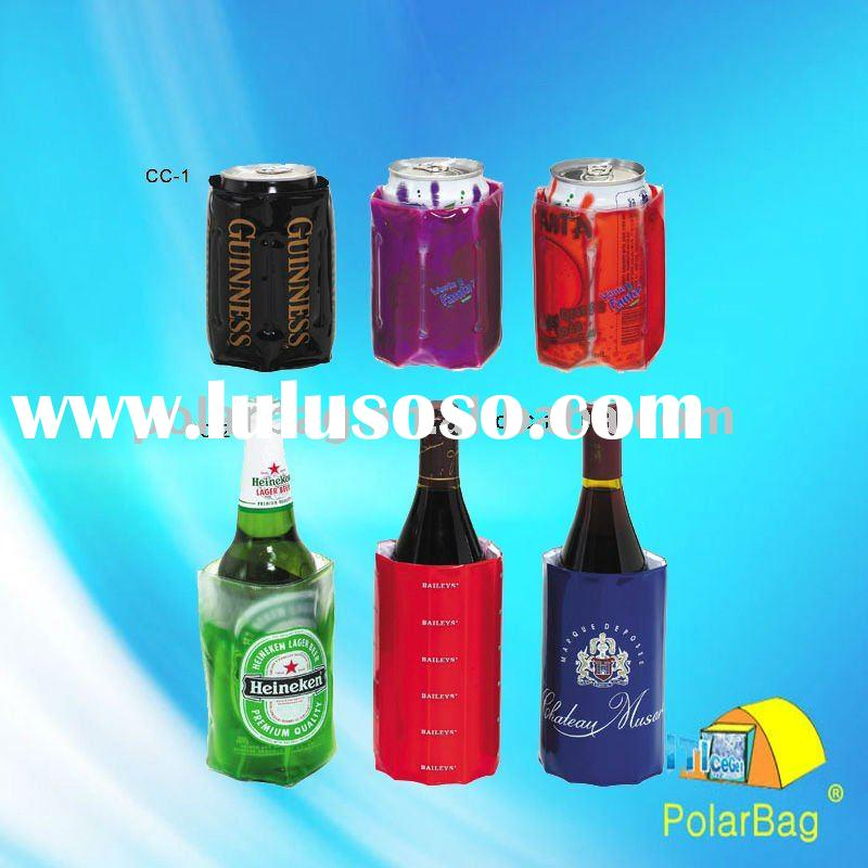 colourful gel can cooler