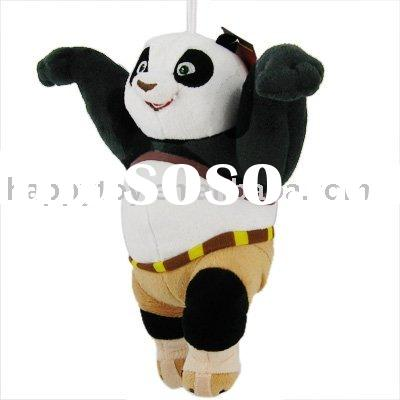 mini plush panda/kung fu panda/plush jointed panda