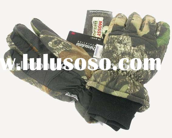 real tree (mossy oak)hunting glove,mountain glove,winter glove,leather glove,sport glove