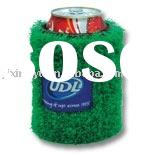 turf beer can coozie, can koozie,can cooler grass can koozie