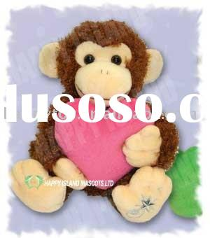 valentine plusy toys/plush stuffed toys/monkey plush toys
