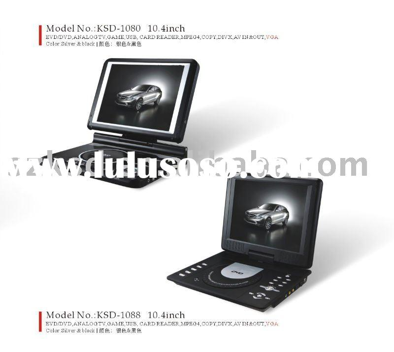 10.4inch fashionable OEM portable DVD player(KSD-1080)