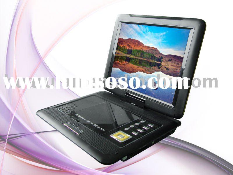 12 inch DVB-T portable dvd player with USB/SD/GAME