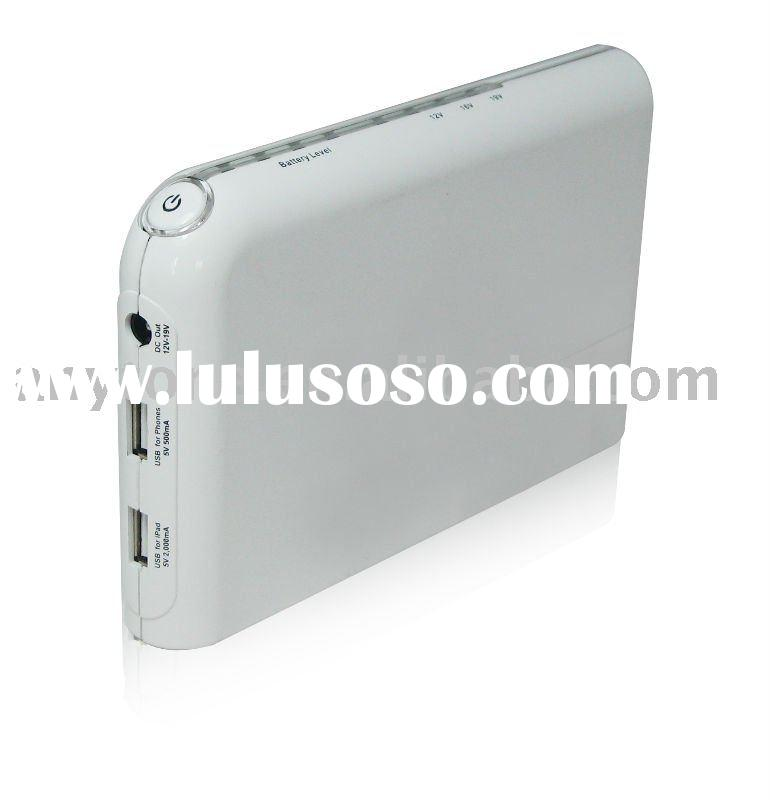2011 Hot Item 13200mah External Rechargeable Portable Battery Pack for iPad2, Samsung Galaxy Tab, la