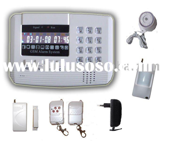 90 zone LCD display wireless/wired gsm home security systems