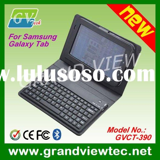 Bluetooth Keyboard for Samsung Galaxy Tab P1000 -- With Leather Case