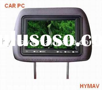 Car pcs, car headrest DVD player PC with touch sceen +VGA INPUT+AV INPUTS