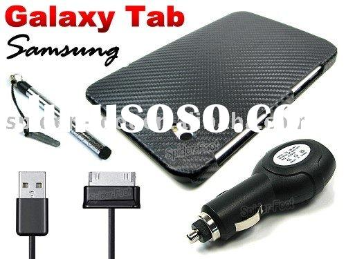 Carbon Fiber Leather Case Back Cover for Samsung Galaxy Tab P1000