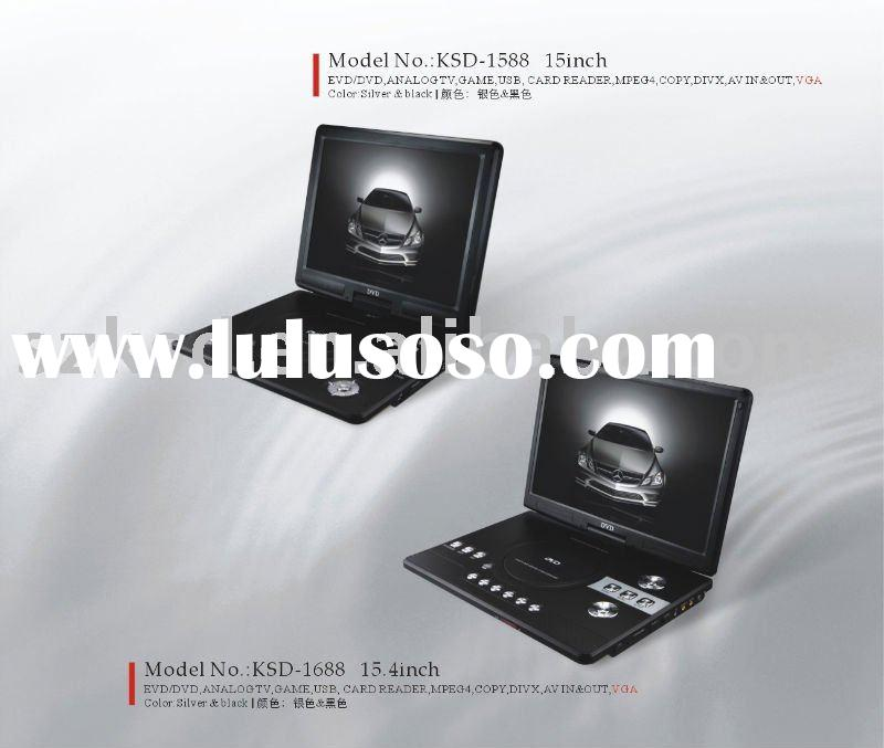 High Quality 15inch Portable DVD player(KSD-1588)