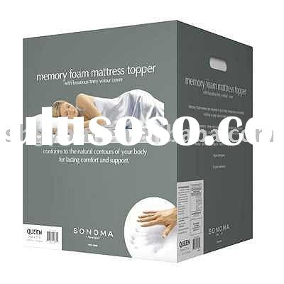 Memory Foam Pillow Top Mattress Topper(color box package)