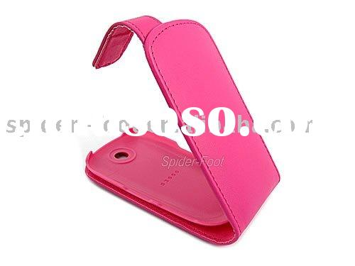 Pink flip leather case for Samsung Genio Touch Corby S3650