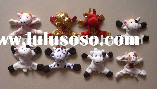Plush cow magnet, plush cow fridge magnet, plush animals magnet, stuffed animals magnet, plush cow m