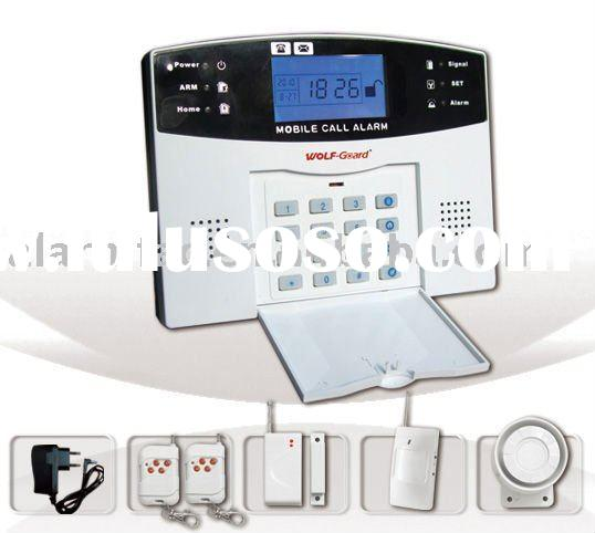 Security house alarm system with LCD & keypad