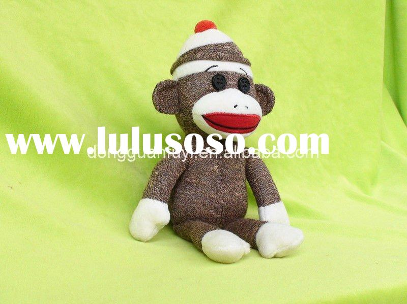 Soft sock monkey for kids