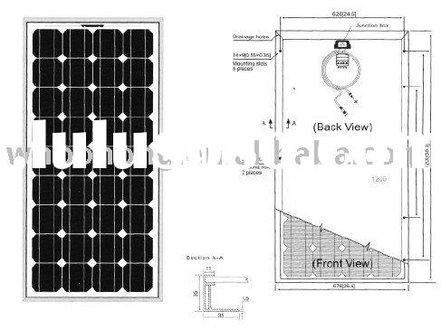 Solar panel low price for home system
