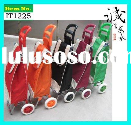 Two Wheels Folded Reusable Supermarket  Grocery Laundry Shopping Trolley Cart Bag