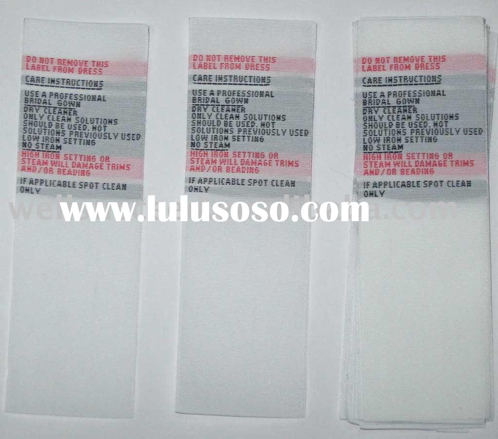 Washing Label, Size Label, Main Label, Brand Label, Care Labels, Woven Label.