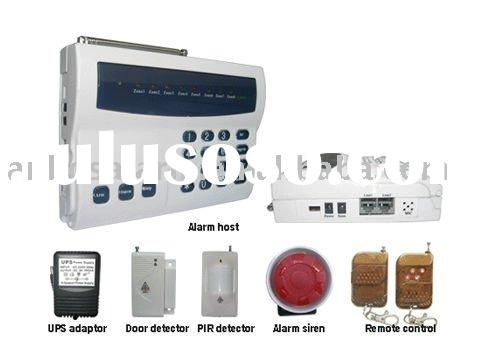 Wired/wireless home security alarm system