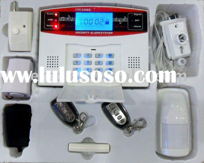 Wireless Alarm System With Keypad And LCD control