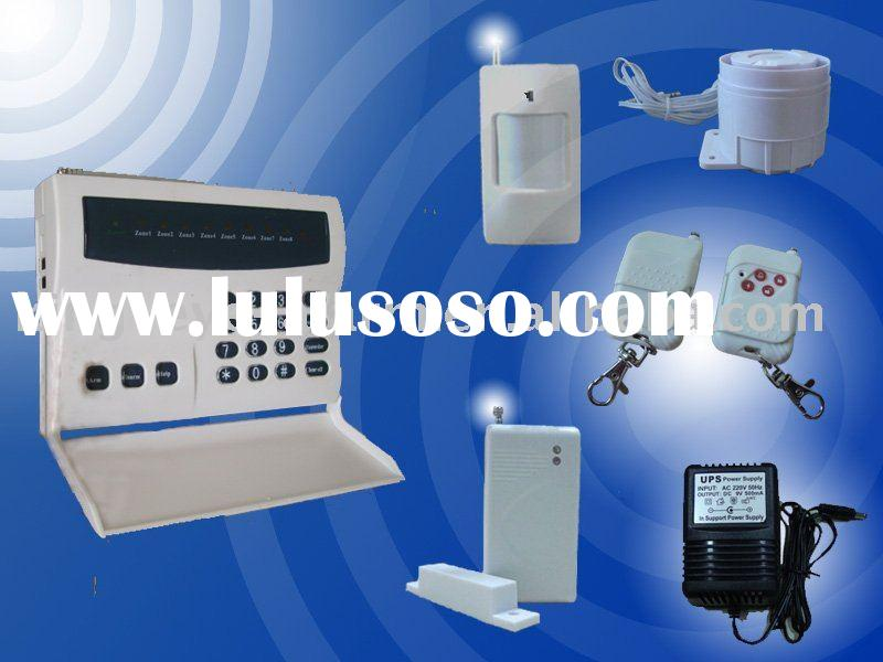 Wireless smart alarm system with keypad on panel