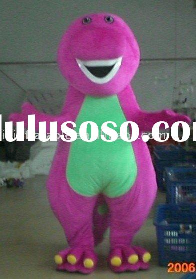 barney cartoon mascot