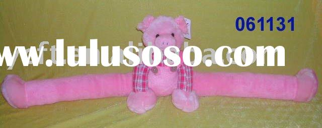 door stopper,stuffed toys,Plush Pig with Long legs-061131