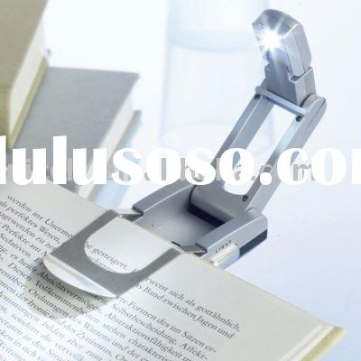 pocket foldable electronic Led booklight & torch for reading lamp