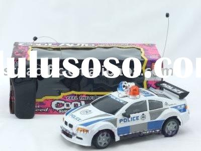 Battery operated police car toy