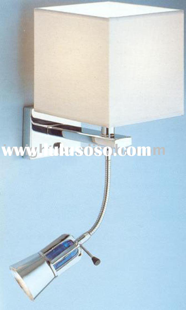 Bedside reading wall light lamp with led tail for hotel for Bedside wall reading lights